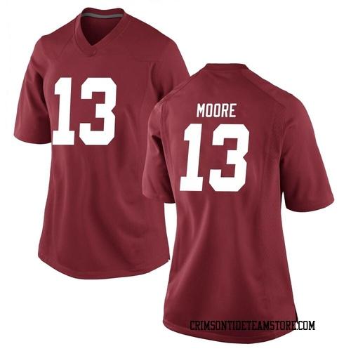 Women's Nike Malachi Moore Alabama Crimson Tide Replica Crimson Football College Jersey