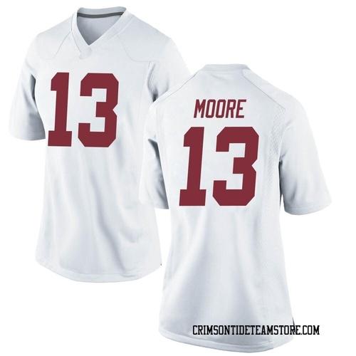 Women's Nike Malachi Moore Alabama Crimson Tide Replica White Football College Jersey