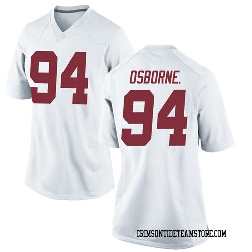 Women's Nike Mario Osborne Jr. Alabama Crimson Tide Game White Football College Jersey