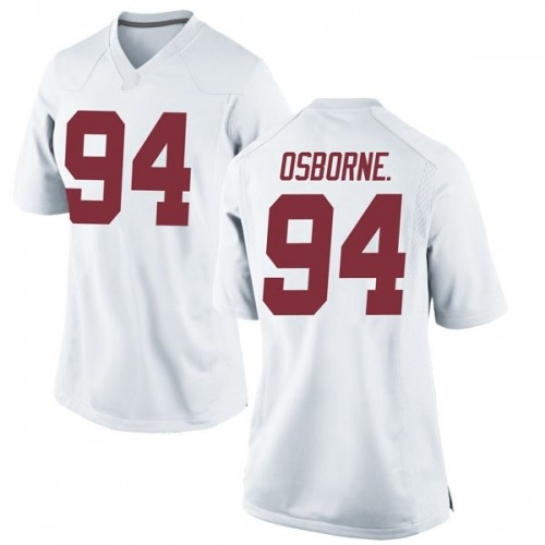 Women's Nike Mario Osborne Jr. Alabama Crimson Tide Replica White Football College Jersey