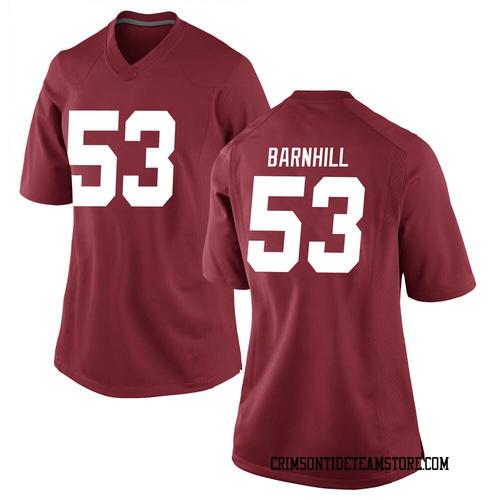 Women's Nike Matthew Barnhill Alabama Crimson Tide Game Crimson Football College Jersey