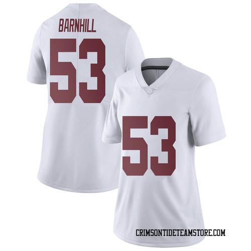 Women's Nike Matthew Barnhill Alabama Crimson Tide Limited White Football College Jersey