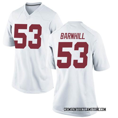 Women's Nike Matthew Barnhill Alabama Crimson Tide Replica White Football College Jersey