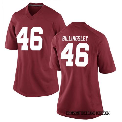 Women's Nike Melvin Billingsley Alabama Crimson Tide Game Crimson Football College Jersey