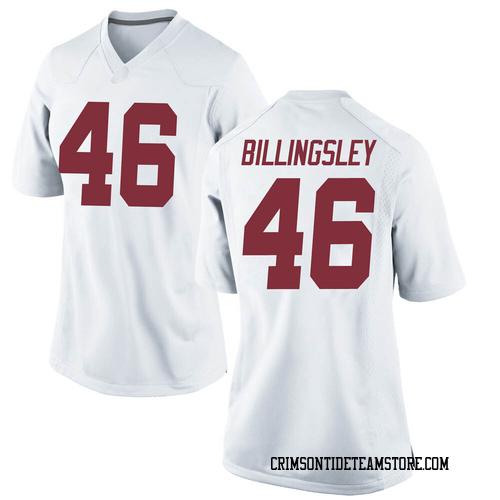 Women's Nike Melvin Billingsley Alabama Crimson Tide Game White Football College Jersey