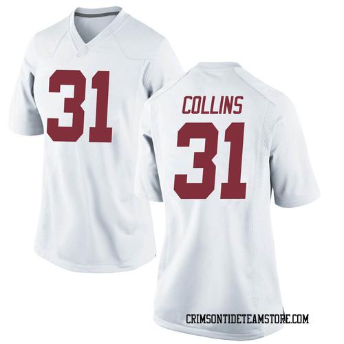 Women's Nike Michael Collins Alabama Crimson Tide Replica White Football College Jersey