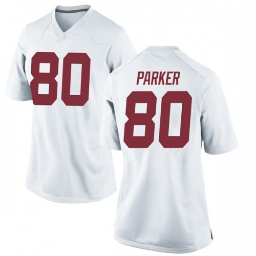 Women's Nike Michael Parker Alabama Crimson Tide Replica White Football College Jersey