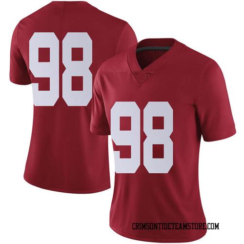 Women's Nike Mike Bernier Alabama Crimson Tide Limited Crimson Football College Jersey