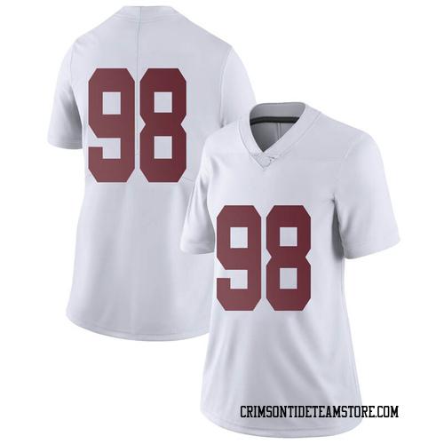 Women's Nike Mike Bernier Alabama Crimson Tide Limited White Football College Jersey