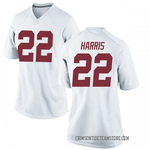 Women's Nike Najee Harris Alabama Crimson Tide Game White Football College Jersey