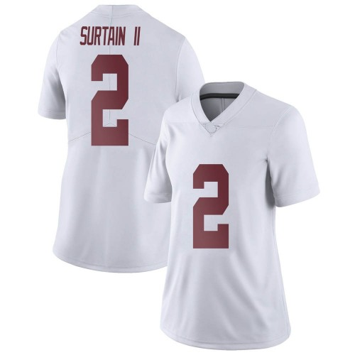 Women's Nike Patrick Surtain II Alabama Crimson Tide Limited White Football College Jersey