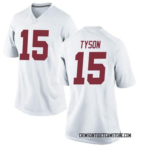 Women's Nike Paul Tyson Alabama Crimson Tide Replica White Football College Jersey
