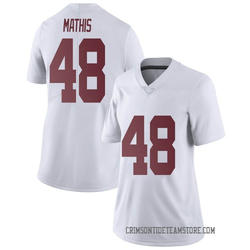 Women's Nike Phidarian Mathis Alabama Crimson Tide Limited White Football College Jersey