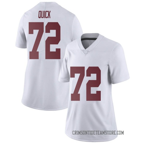 Women's Nike Pierce Quick Alabama Crimson Tide Limited White Football College Jersey