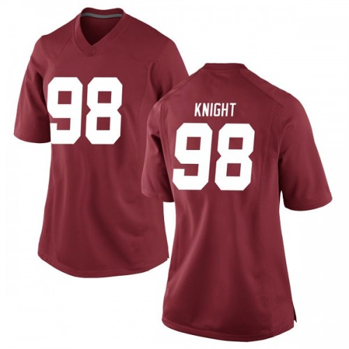 Women's Nike Preston Knight Alabama Crimson Tide Game Crimson Football College Jersey