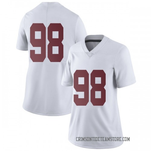 Women's Nike Preston Knight Alabama Crimson Tide Limited White Football College Jersey