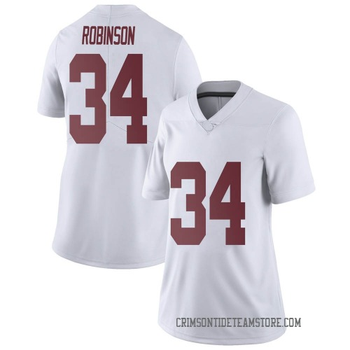 Women's Nike Quandarrius Robinson Alabama Crimson Tide Limited White Football College Jersey