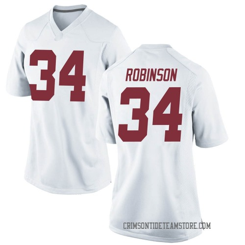 Women's Nike Quandarrius Robinson Alabama Crimson Tide Replica White Football College Jersey