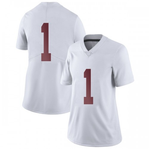 Women's Nike Riley Norris Alabama Crimson Tide Limited White Football College Jersey