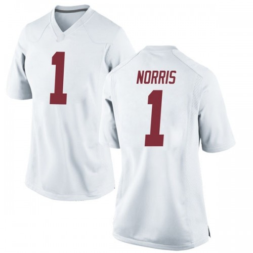 Women's Nike Riley Norris Alabama Crimson Tide Replica White Football College Jersey