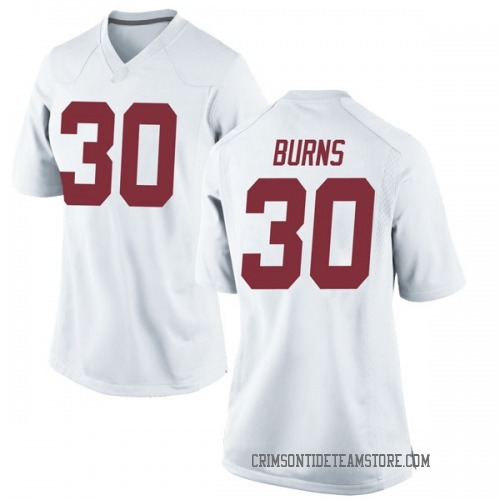 Women's Nike Ryan Burns Alabama Crimson Tide Game White Football College Jersey