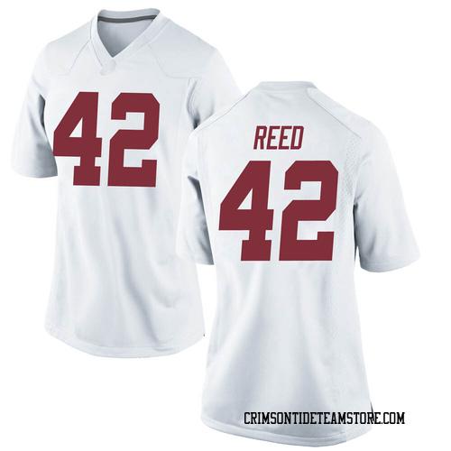 Women's Nike Sam Reed Alabama Crimson Tide Replica White Football College Jersey