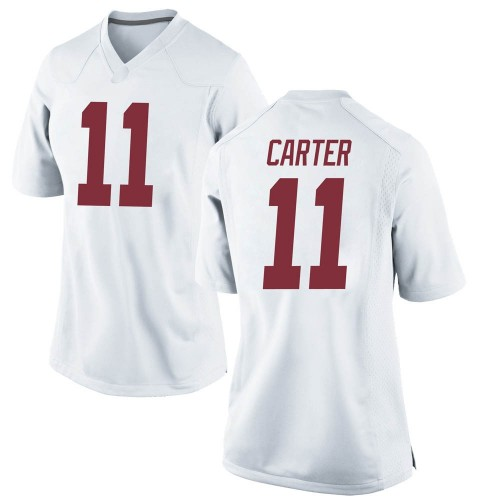 Women's Nike Scooby Carter Alabama Crimson Tide Game White Football College Jersey