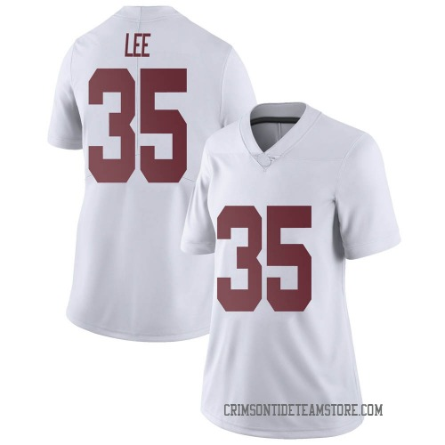 Women's Nike Shane Lee Alabama Crimson Tide Limited White Football College Jersey