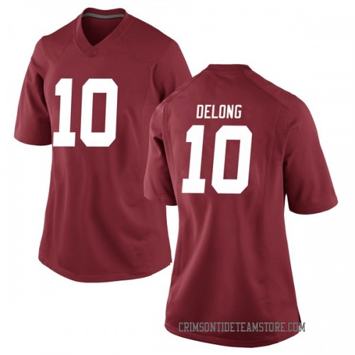 Women's Nike Skyler DeLong Alabama Crimson Tide Game Crimson Football College Jersey
