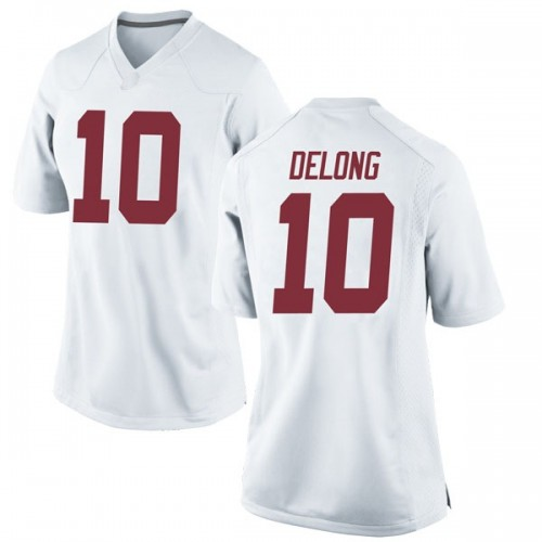 Women's Nike Skyler DeLong Alabama Crimson Tide Game White Football College Jersey