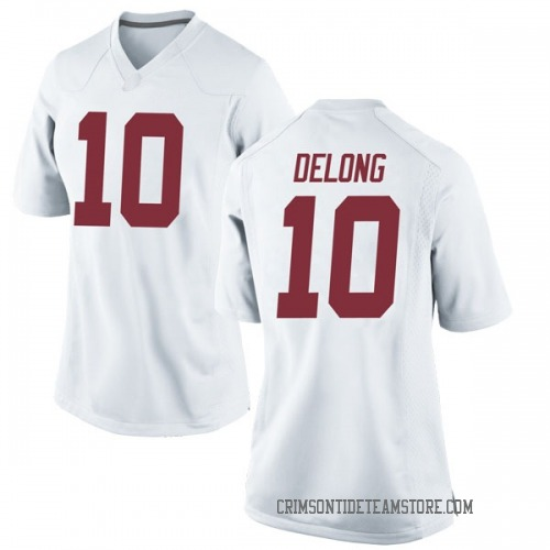 Women's Nike Skyler DeLong Alabama Crimson Tide Replica White Football College Jersey
