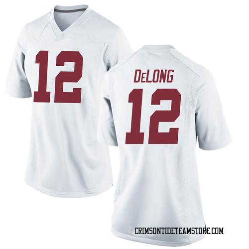Women's Nike Skyler DeLong Alabama Crimson Tide Replica White Football College Jersey