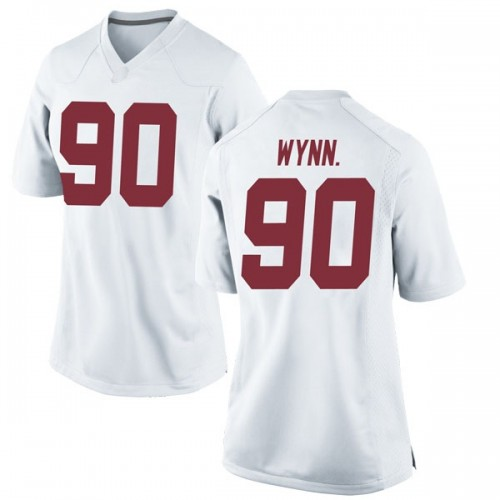 Women's Nike Stephon Wynn Jr. Alabama Crimson Tide Replica White Football College Jersey