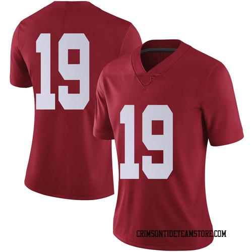 Women's Nike Stone Hollenbach Alabama Crimson Tide Limited Crimson Football College Jersey