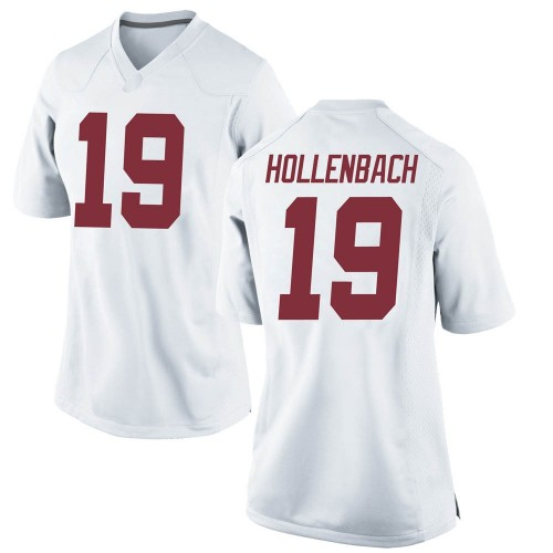 Women's Nike Stone Hollenbach Alabama Crimson Tide Replica White Football College Jersey