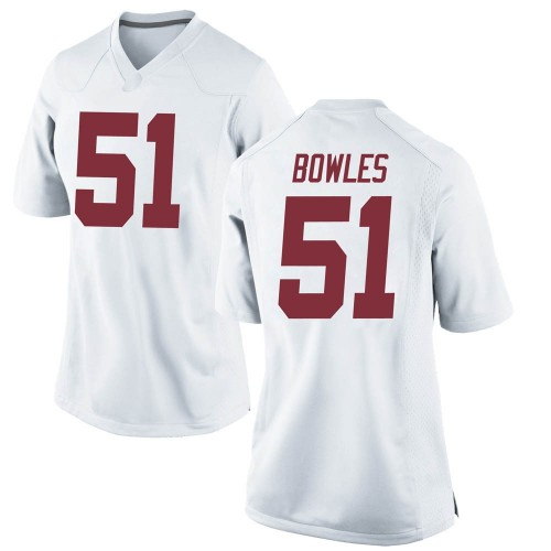 Women's Nike Tanner Bowles Alabama Crimson Tide Game White Football College Jersey