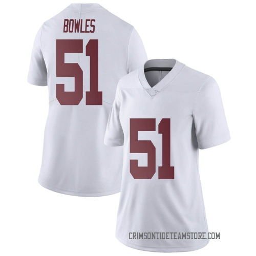 Women's Nike Tanner Bowles Alabama Crimson Tide Limited White Football College Jersey