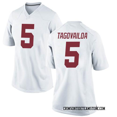 Women's Nike Taulia Tagovailoa Alabama Crimson Tide Replica White Football College Jersey