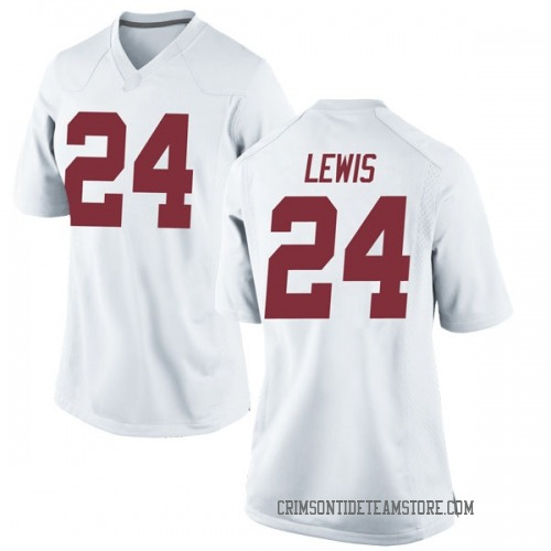 Women's Nike Terrell Lewis Alabama Crimson Tide Game White Football College Jersey