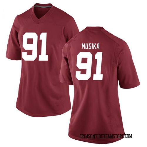 Women's Nike Tevita Musika Alabama Crimson Tide Game Crimson Football College Jersey