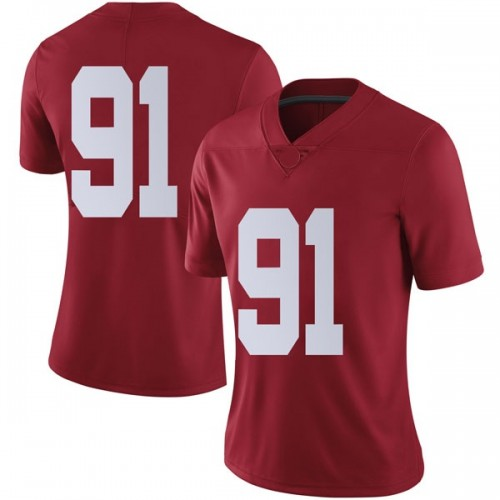 Women's Nike Tevita Musika Alabama Crimson Tide Limited Crimson Football College Jersey