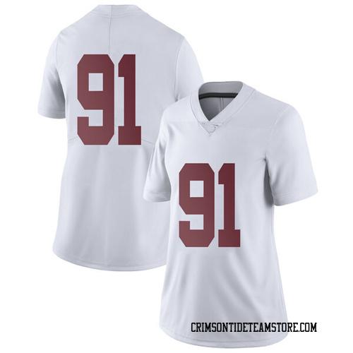 Women's Nike Tevita Musika Alabama Crimson Tide Limited White Football College Jersey