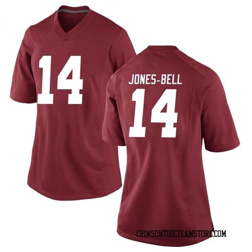 Women's Nike Thaiu Jones-Bell Alabama Crimson Tide Game Crimson Football College Jersey