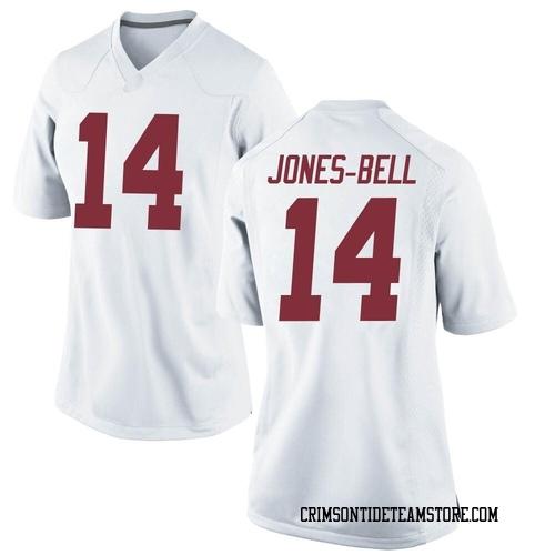 Women's Nike Thaiu Jones-Bell Alabama Crimson Tide Replica White Football College Jersey