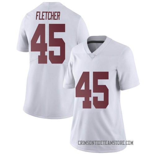 Women's Nike Thomas Fletcher Alabama Crimson Tide Limited White Football College Jersey
