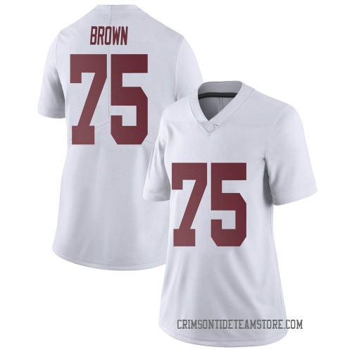 Women's Nike Tommy Brown Alabama Crimson Tide Limited White Football College Jersey