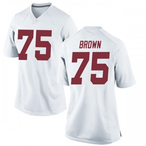Women's Nike Tommy Brown Alabama Crimson Tide Replica White Football College Jersey