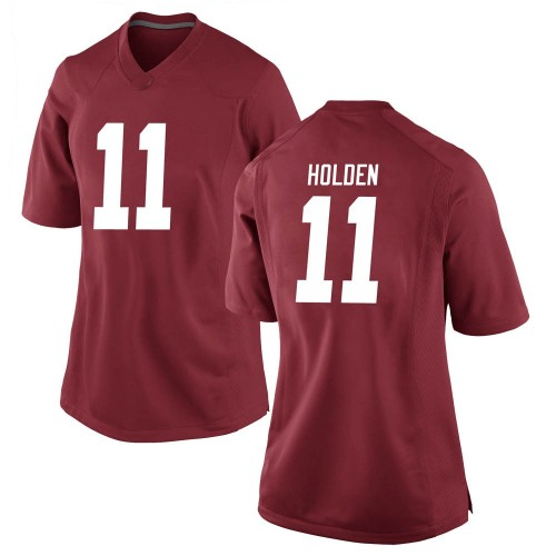 Women's Nike Traeshon Holden Alabama Crimson Tide Game Crimson Football College Jersey