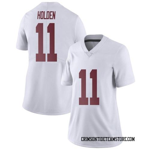 Women's Nike Traeshon Holden Alabama Crimson Tide Limited White Football College Jersey