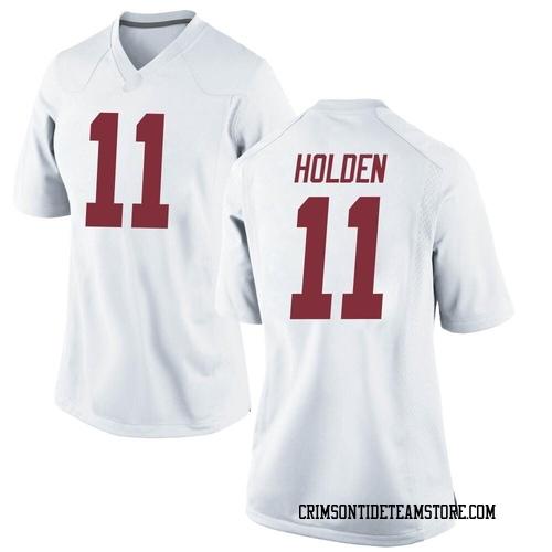Women's Nike Traeshon Holden Alabama Crimson Tide Replica White Football College Jersey